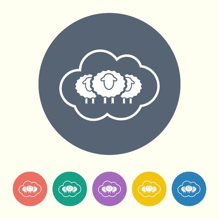 sheep wool: vector illustration of modern silhouette icon sheep