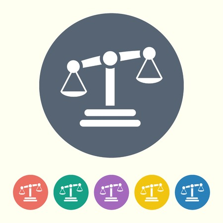 acquit: vector illustration of business and finance icon scales Illustration