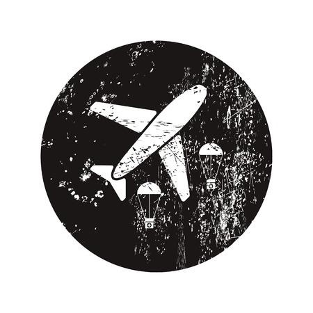 healthcare worker: vector illustration of modern b lack icon medical bag Illustration
