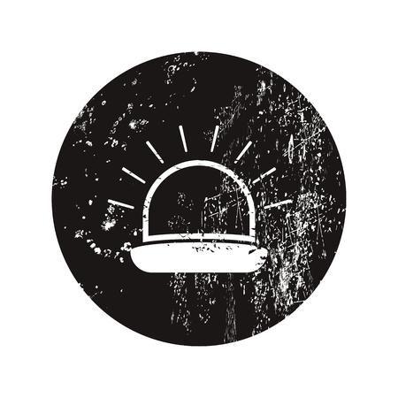 ampere: vector illustration of modern black icon siren