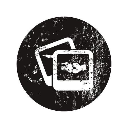 patella: vector illustration of modern black icon bone