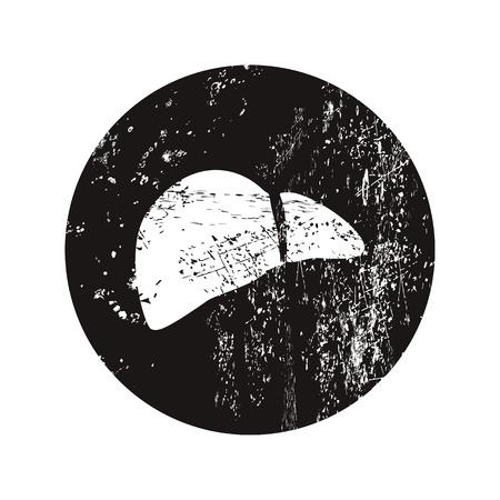 bile: vector illustration of modern black icon liver