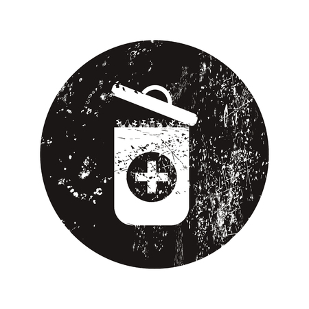 sewage: vector illustration of modern black icon trashcan Illustration
