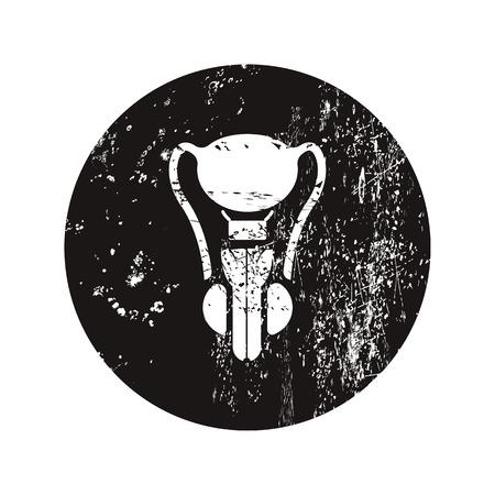 uretra: ilustración vectorial de la moderna icono negro órgano masculino Vectores