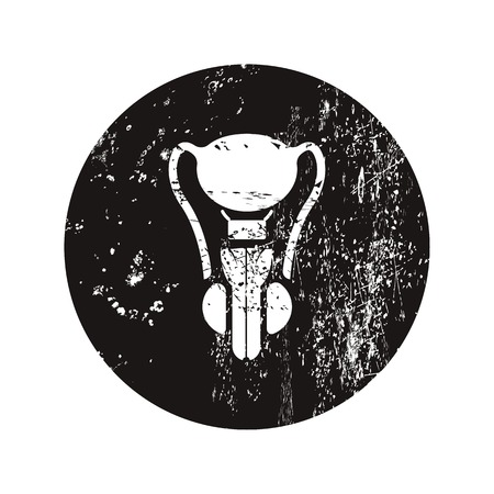 vas deferens: vector illustration of modern black icon male organ