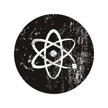 PROTON: vector illustration of modern b lack icon atom