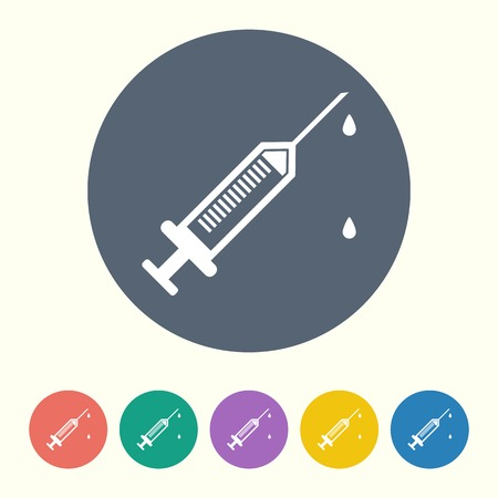 flue: vector illustration of modern black icon syringe Illustration