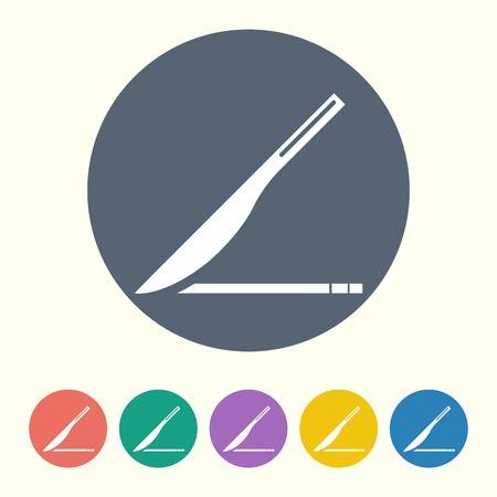 scalpel: vector illustration of modern b lack icon scalpel Illustration