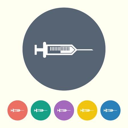 flue: vector illustration of modern black icon syringe Illustration