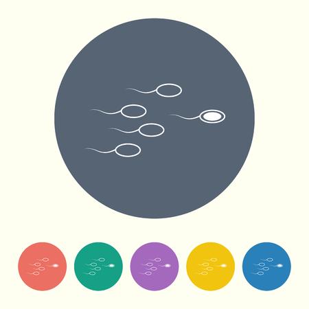 spermatozoa: vector illustration of modern black icon sperm