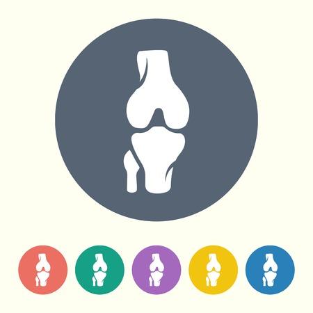 human bones: ilustración vectorial de la moderna icono negro de huesos