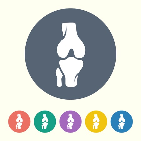 human knee: vector illustration of modern black icon bone