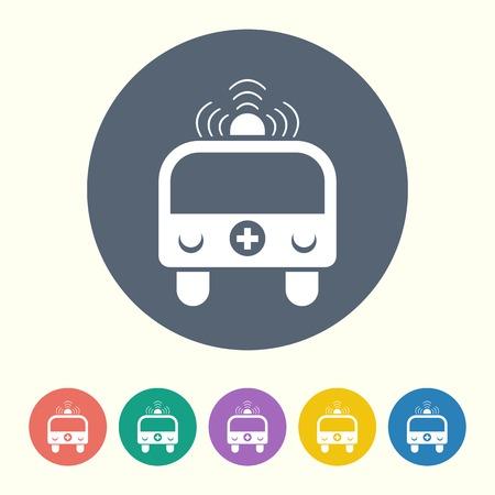 ambulancia: ilustraci�n vectorial de la moderna icono negro ambulancia