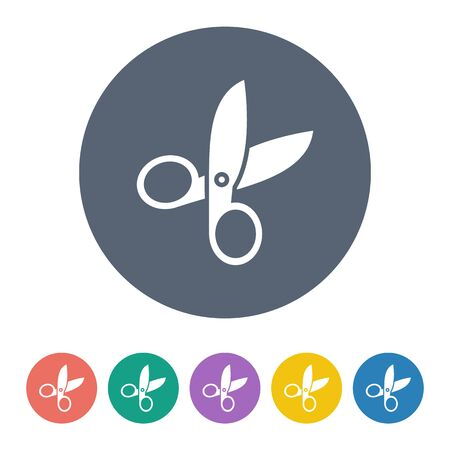 haircutting: illustration of vector office modern icon in design