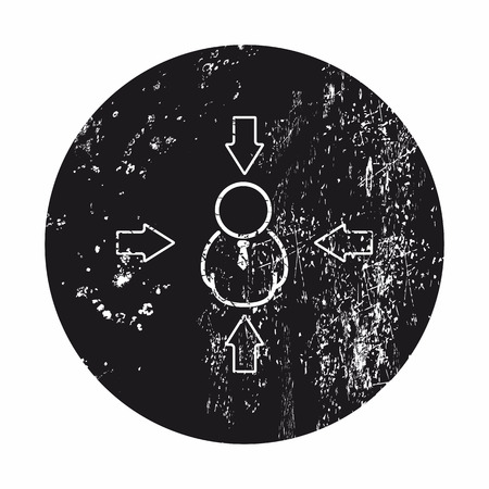 allocation: illustration of vector office modern icon in design