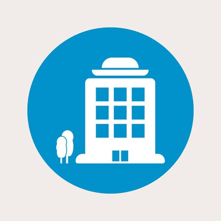 headquarters: illustration of vector office modern icon in design