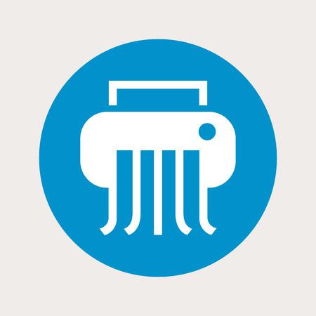 shredder: illustration of vector office modern icon in design