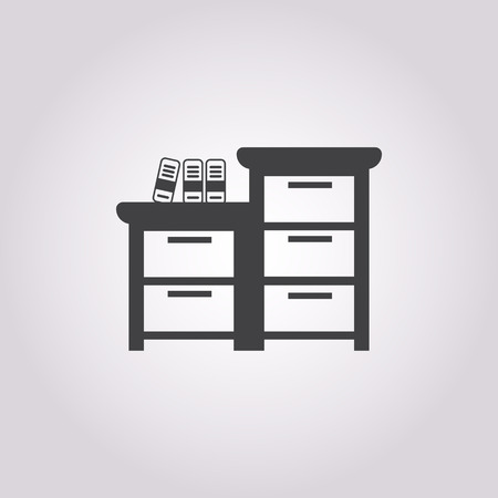 noticeable: illustration of vector office modern icon in design