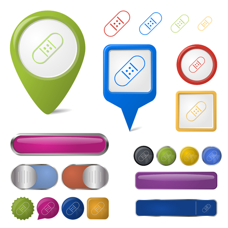 enhanced health: illustration of vector medical modern icon in design