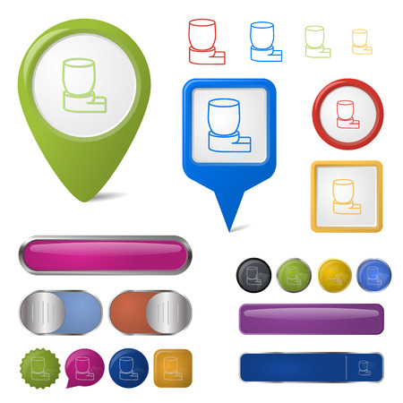 asthmatic: illustration of vector medical modern icon in design