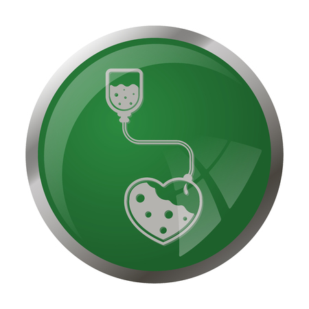 intravenous: illustration of vector medical modern icon in design