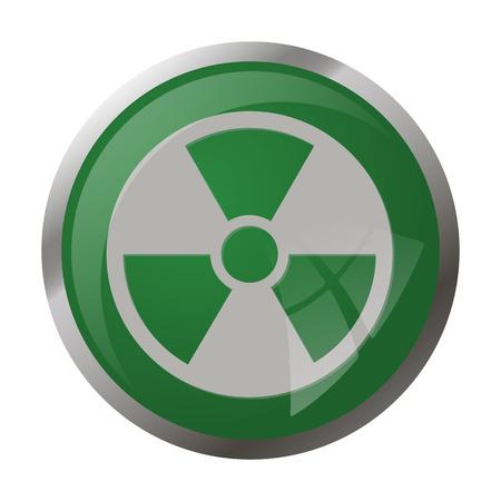 uranium radioactivity: illustration of vector medical modern icon in design