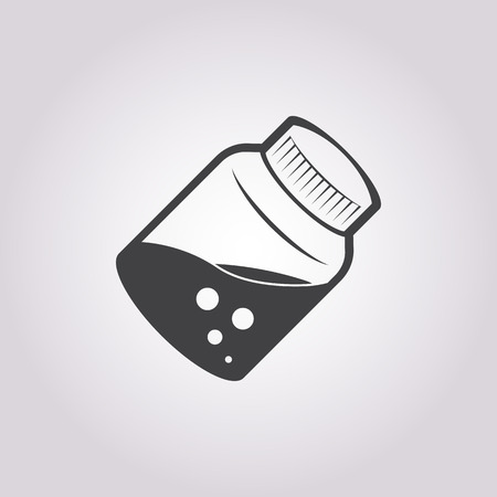 homeopathic: illustration of vector medical modern icon in design