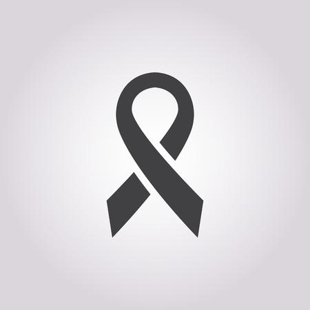 cancer awareness ribbon: illustration of vector medical modern icon in design
