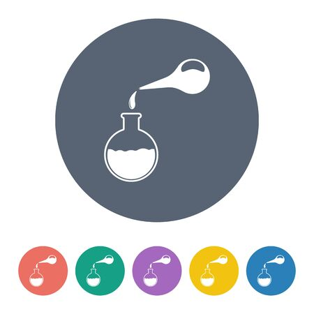constipation: illustration of vector medical modern icon in design