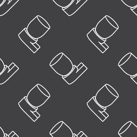 asthma inhaler: illustration of vector medical modern icon in design