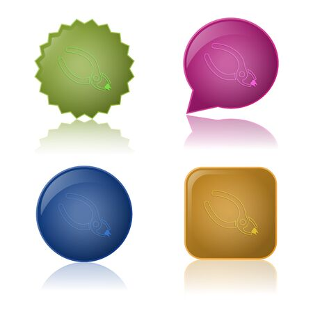 pulpitis: illustration of vector medical modern icon in design