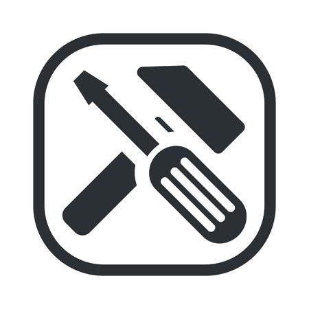 adjusting: illustration of vector technical modern icon in design