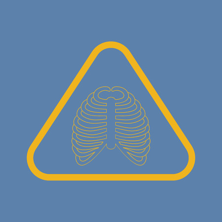 chest pain: illustration of vector medical modern icon in design
