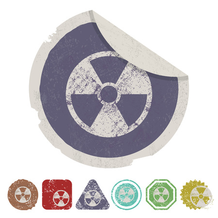 nuclear safety: illustration of vector medical modern icon in design