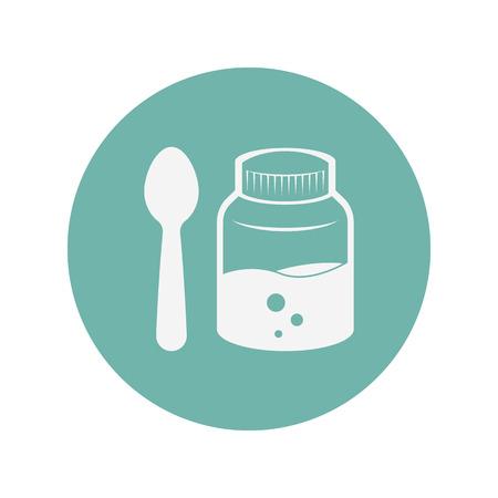 a substance vial: illustration of vector medical modern icon in design