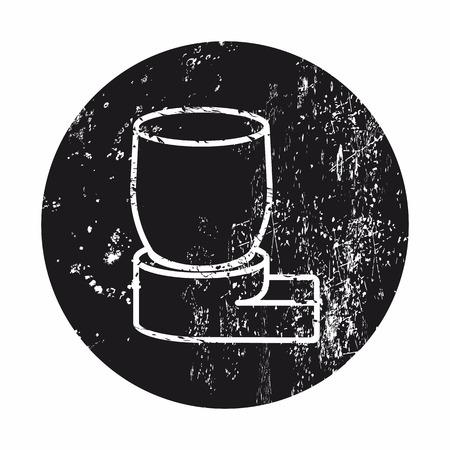 inhale: illustration of vector medical modern icon in design