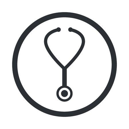 med: illustration of vector medical modern icon in design