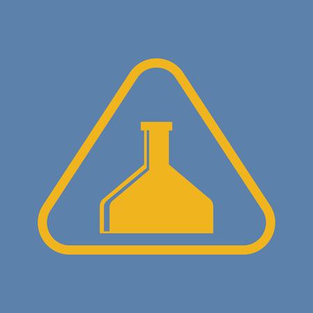poison symbol: illustration of vector medical modern icon in design