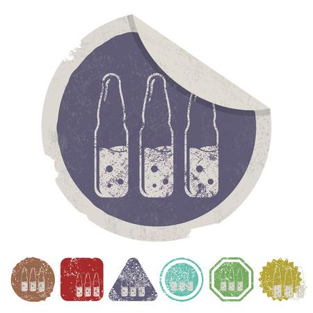hypodermic syringes: illustration of vector medical modern icon in design