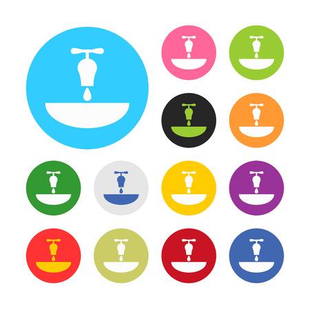 wash hand stand: illustration of vector building modern icon in design Illustration