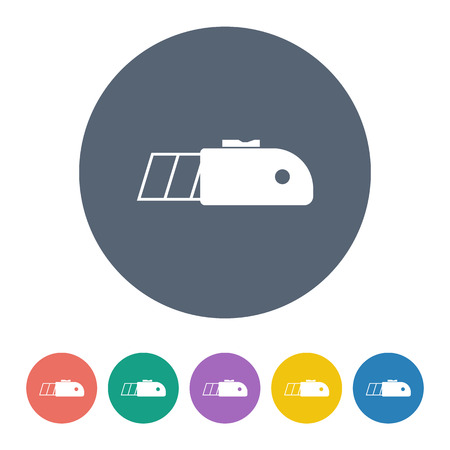 penknife: illustration of vector building modern icon in design Illustration