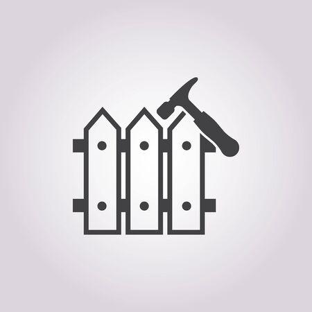 bucolic: illustration of vector building modern icon in design Vettoriali