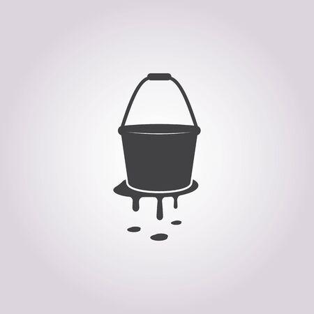 bucketful: illustration of vector building modern icon in design Illustration
