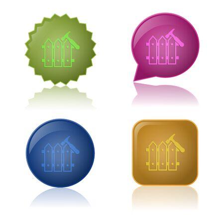 bucolic: illustrazione vettoriale di costruzione icona moderna nel design