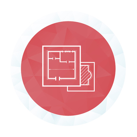 drafting table: illustration of vector building modern icon in design Illustration