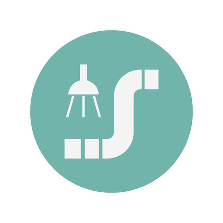 trough: illustration of vector building modern icon in design Illustration