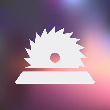 cutoff blade: illustration of vector building modern icon in design Illustration