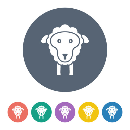 baa: Vector illustration of modern farm icon