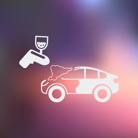 airbrushing: Vector illustration of modern auto repair icon
