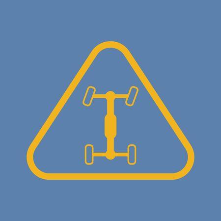 vehicle breakdown: Vector illustration of modern auto repair icon
